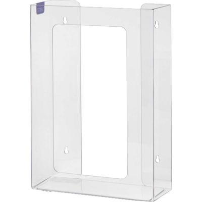 "Horizon Mfg. Top Loading Plastic Glove Box Dispenser, Holds 3 Boxes, 15-1/4""H x 11""W x 4""D, Clear"