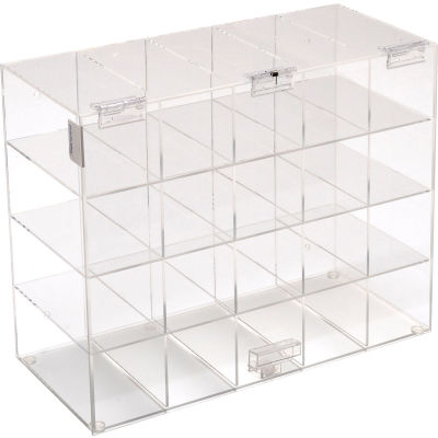 "Horizon Mfg. Safety Glass Holder With Door, 5203, Holds 20 Glasses, 6-3/4""L"
