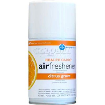 AirWorks® Metered Aerosol Air Fresheners, Citrus Grove, 12/Case, 7931