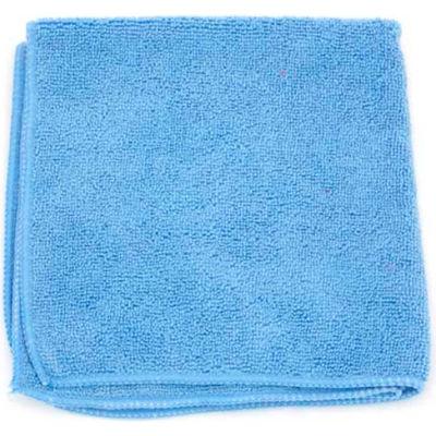 """Microworks Microfiber Towel 16"""" x 16"""", Blue 12 Towels/Pack - 2502-B-DZ"""