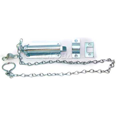 "Ultra Hardware Chain Bolt, 24"" Pull Chain, 4""L, Zinc - Pkg Qty 5"