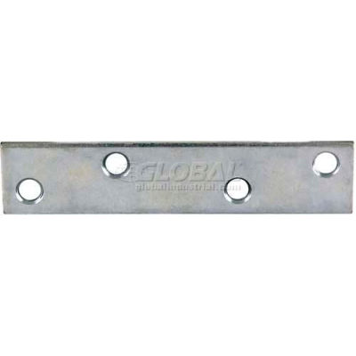 "Ultra Hardware Mending Plate, Galv. Zinc Dichromate, 4""L X 5/8""W - Pkg Qty 48"
