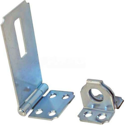 "Ultra Hardware Fixed Staple Safety Hasp, Steel, 2-1/2""L, Zinc Finish"