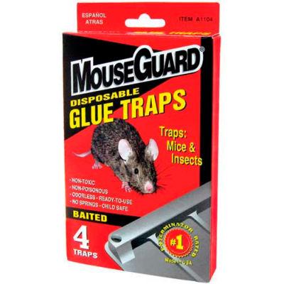 Mouse Guard Disposable Mouse Glue Traps, 4 Pack - A1104N - Pkg Qty 24