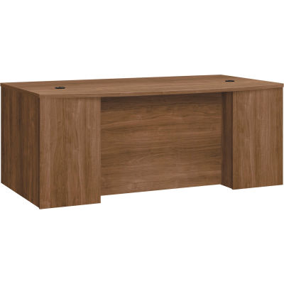 """HON® Breakfront Desk Shell Bow Front - 72""""W x 42""""D x 29""""H - Pinnacle - Foundation Series"""