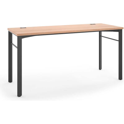 "HON® Rectangular Table - 60""W - Wheat /Ash - Manage Series"