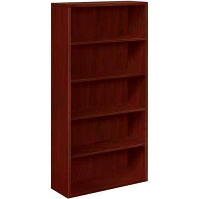 "HON® Bookcase Five-Shelf 36""W x 13-1/8""D x 71""H Mahogany - 10500 Series"