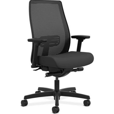 HON® Task Chair with Mesh Back - Fabric - Mid Back - Black - Endorse Series