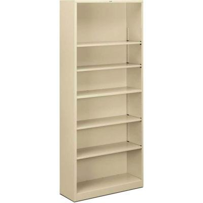 HON® Brigade Bookcases Brigade Steel Six-Shelf Bookcase 34-1/2W Putty