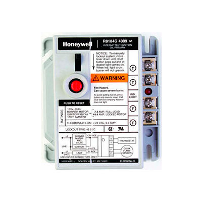 Honeywell Protectorelay Oil Burner Control W/ 15 Seconds Lock Out Timing R8184G4066