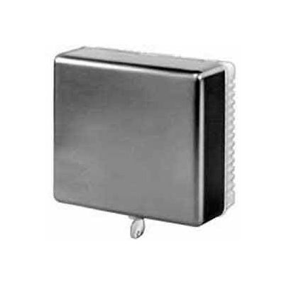 Honeywell Small Thermostat Guard W/ Beige Painted Steel Cover Opaque Ring Base Wallplate TG510D1005