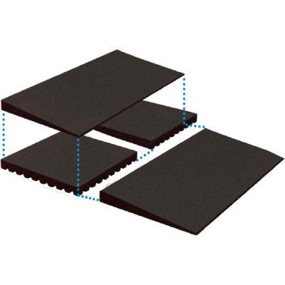 "EZ-ACCESS® Transitions® Rubber Mat Threshold Risers TMEMR 2.25 - 24"" x 24"" - 850 Lb. Cap."