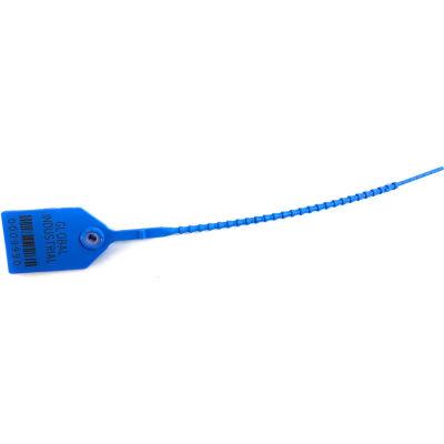 "Global Industrial™ Variable Length Plastic 9"" Seal, Med Blue, 100/Pack"