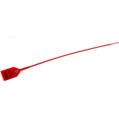 "Global Industrial™ Variable Length, Plastic 15"" Seal, Red, 100/Pack"