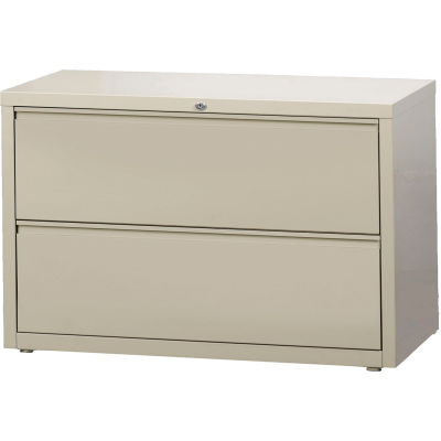"""Hirsh Industries® HL10000 Series® Lateral File 42"""" Wide 2-Drawer - Putty"""