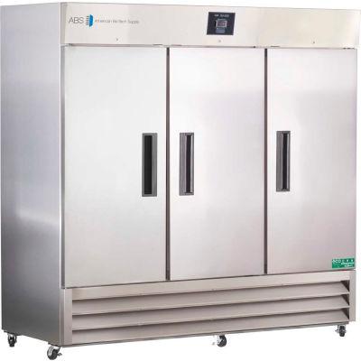 American Biotech Supply Premier Stainless Steel Solid Door Laboratory Refrigerator, 72 Cu. Ft.