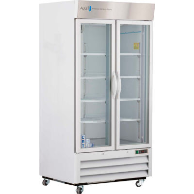 ABS Upright Controlled Room Temperature Cabinet, Glass Door, 36 Cu.Ft.