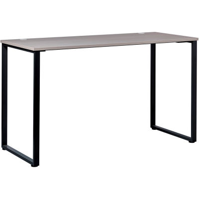 """Interion® Open Plan Standing Height Desk - 60""""W x 24""""D x 40""""H - Gray Top with Black Legs"""