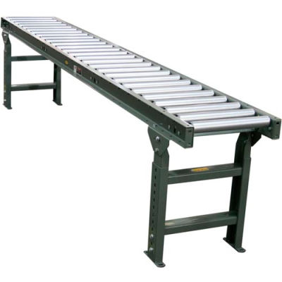 """Hytrol® 10 Ft. - 36""""W - 1.9"""" Dia. Galvanized Rollers - 33"""" Between Rails - 4.5"""" Roller Centers"""