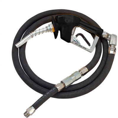 "Husky XS Press Activated Unleaded Noz w/Waffle Splash Guard 3/4""x11'3"" Hardwall Whip Hose - 10606-04"