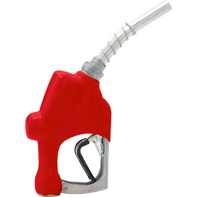 Husky 1A Unleaded Nozzle w/3-Notch Hold Open Clip & Black Hand Guard - 209804N-02