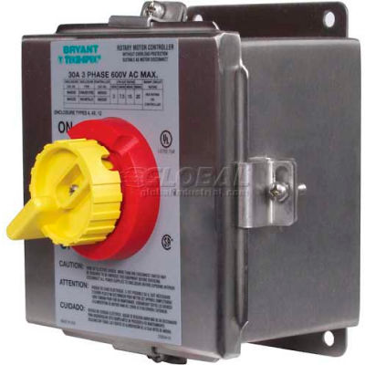 NEMA 4X Stainless Steel Toggle Switch in Enclosure, 30 AMP 600V
