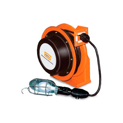 Hubbell ACA16345-HL Industrial Duty Cord Reel with Incandescent Hand Lamp - 16/3c x 45', Aluminum