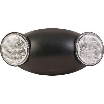 Compass Lighting CU2B LED Black Emergency Unit w/ Adjustable Heads
