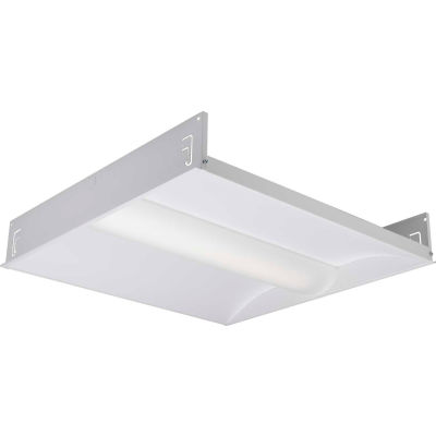 Hubbell LCAT22-35MLG-EDU Contemporary LED 2x2 Recessed Troffer, 30W, 3300L, 3500K, 0-10V Dim, DLC