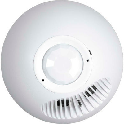 Hubbell OMNI PIR/Ultrasonic Ceiling Low Voltage Sensor with 500 Sq Ft Range and Relay & Photocell