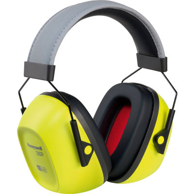 Honeywell VeriShield™ 1035110-VS 100 Passive Earmuffs, Over The Head, Hi-Viz Yellow, NRR 30