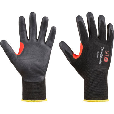Honeywell Coreshield™ 15 Gauge Nylon Black Liner Gloves, Nitrile Micro-Foam Coating, Size 9L