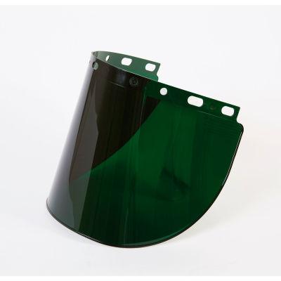 "Honeywell Fibre-Metal® Green Shade 5 Propionate Faceshield Window, 8"" X 16-1/2"" X .06""T"