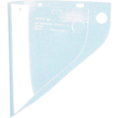 "Honeywell Fibre-Metal® Clear Propionate Ext. View Faceshield, 9-3/4"" X 19"" X .06""T"