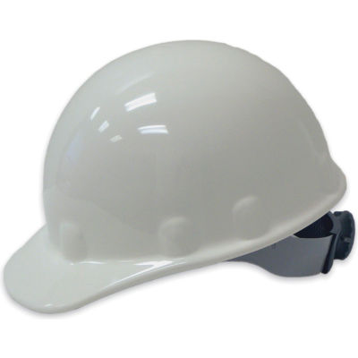 Honeywell Fibre-Metal® Cap Style Hard Hat, Ratchet Suspension, White, HDPE, E2 Series