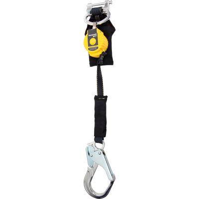 Honeywell Miller TurboLite Flash Personal Fall Limiter, Alum. Locking Rebar Hooks, 6'L, 420lbs Cap