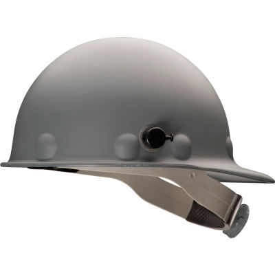 Honeywell Fibre-Metal® Cap Style P2 Hard Hat, Gray, 8pt-Ratchet Suspension, Fiberglass