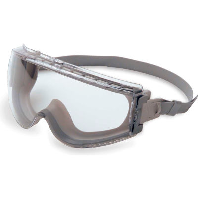 Uvex® Stealth S3960HS Safety Goggles, Gray Frame, Clear Lens, Scratch-Resistant, Anti-Fog