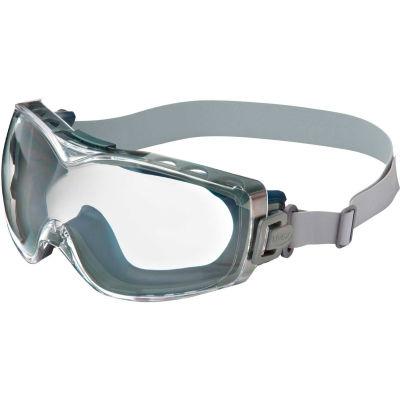 Uvex® Stealth S3970D Safety OTG, Navy Frame, Clear Lens, Scratch-Resistant, Hard Coat