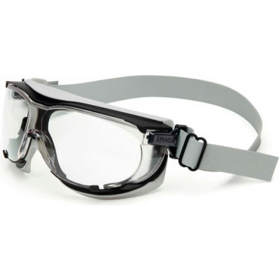 Uvex® Carbonvision™ S1650D Safety Goggles, Black & Gray Frame, Clear Lens