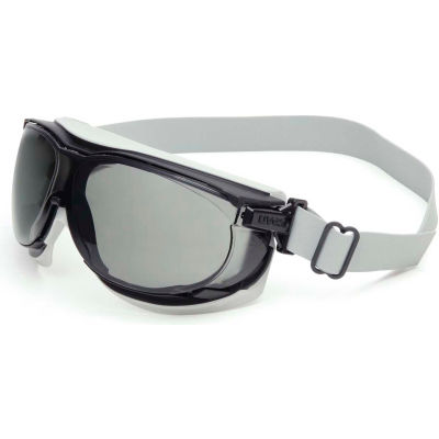 Uvex® Carbonvision™ S1651D Safety Goggles, Black & Gray Frame, Gray Lens