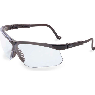 Uvex® S3200HS Genesis Anti Fog Safety Glasses, Black Frame, Clear Lens