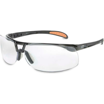 Uvex® S4200HS Protege Safety Glasses, Black Frame, Clear HS Lens