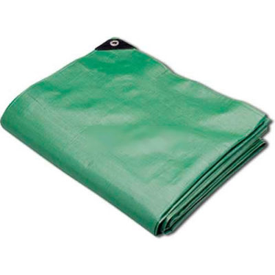 Hygrade Heavy Duty Super Cover Poly Tarp 10 Mil, Green/Black, 15'L X 25'W - MTGB-1525