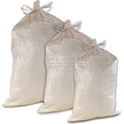 ComfitWear® Poly Sandbags, 17'' x 27', 65 lb. Bag, White, 1000/Pack