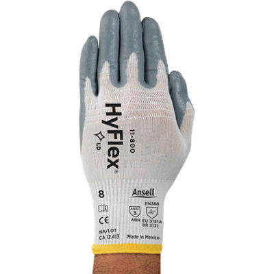 HyFlex® Foam Nitrile Coated Gloves, Ansell 11-800-10, 1-Pair