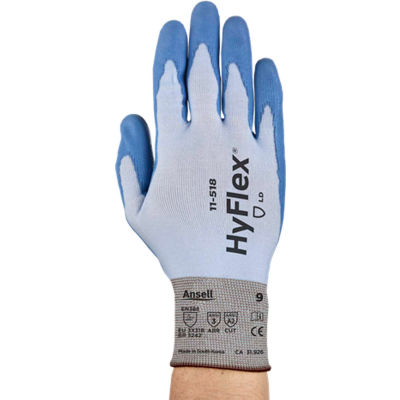 HyFlex® Seamless Polyurehtane Coated Gloves, Ansell 11-518, Size 9, 1 Pair