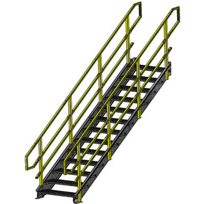 "Equipto 1548IBC9 IBC Stairway, 48"" Width, 9 Stairs"