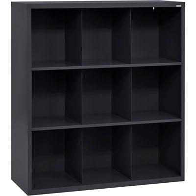 Sandusky Cubbie Storage Organizer - 9 Sections - Black