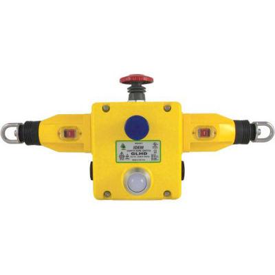 IDEM 141030B GLHD Rope Pull Switch W/LED, 4NC 2NO, 110/120v, Die Cast